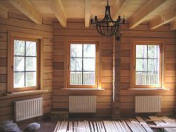 Установка и монтаж деревянных окон в деревянных домах фото