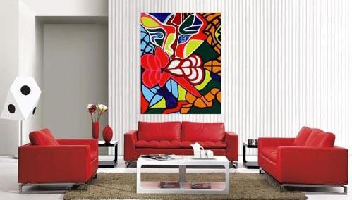 Абстрактные картины в интерьере квартиры фото