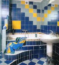 Керамическая плитка для ванной комнаты фото