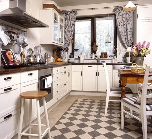 Интерьер кухни в ретро стиле фото