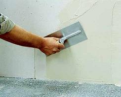 Технология шпатлевания стен и потолка
