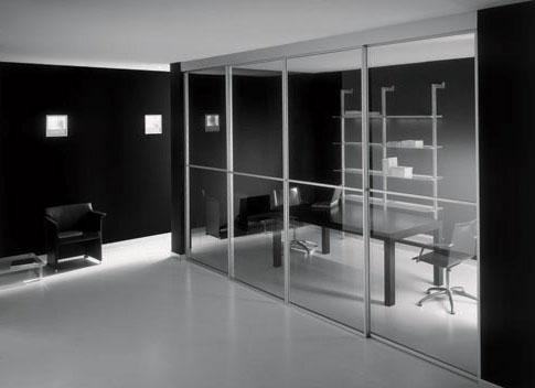 Зеркальные межкомнатные раздвижные двери фото