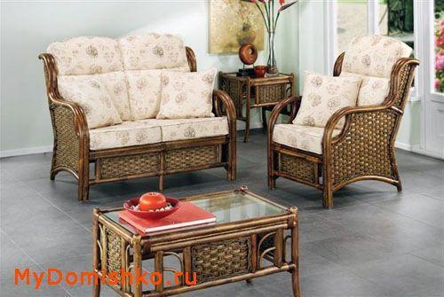 Плетеная мебель из ротанга для дачи фото