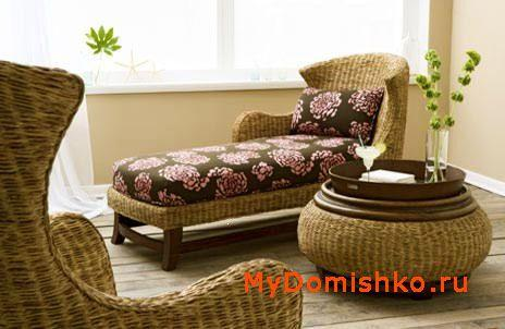 Плетеная мебель для дачи с округлостями фото
