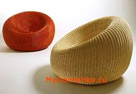 Дизайн плетеных округлых стульев для дачи фото