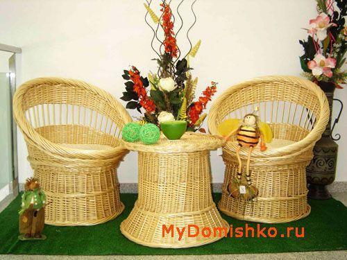 Плетеная мебель компактных размеров для дачи фото
