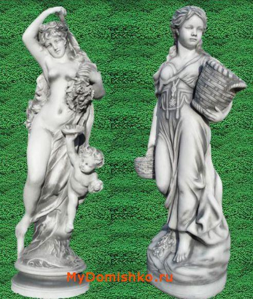 Фото садовых скульптур из бетона