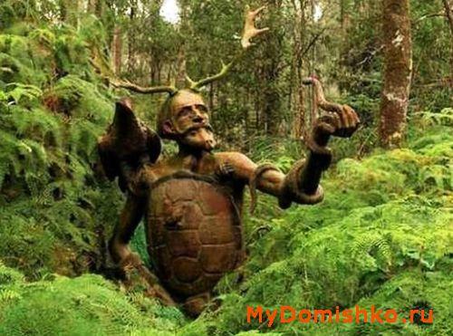 Садовая скульптура из дерева Леший фото