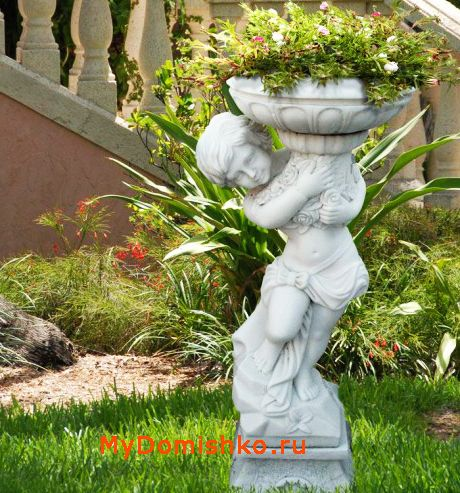 Фото садовой скульптуры из гипса