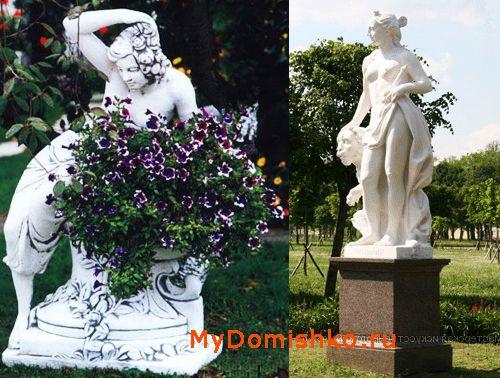 Садовые скульптуры из искусственного камня полистоун фото