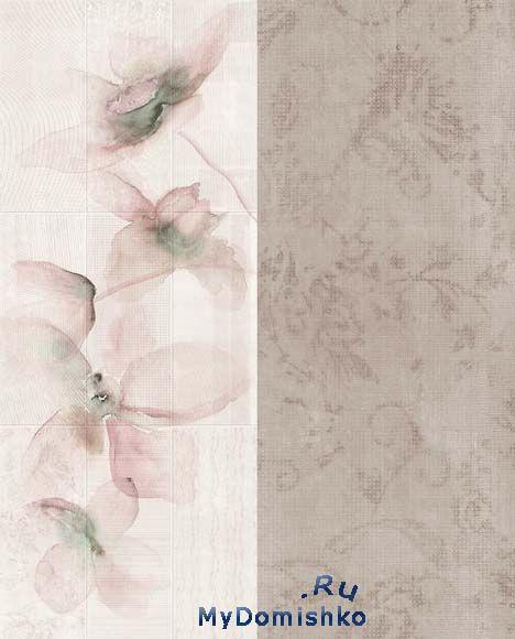 Фото Керамическая плитка с рельефной поверхностью имитирующая обои