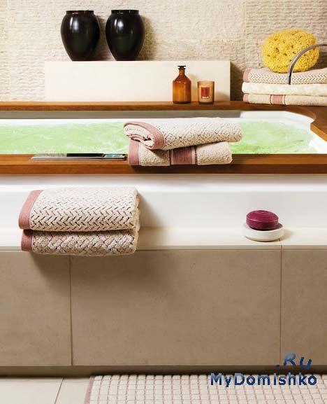 Фото Привнести в свою ванную комнату нотки современной моды можно при помощи полотенец в естественных тонах